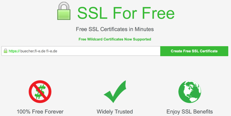 startfenster von ssl for free