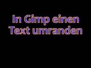 Gimp Text umranden